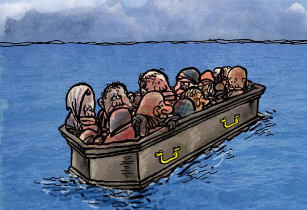 migrants cercueil